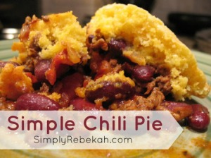 Simple Chili Pie