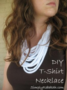 How to Make a T-Shirt Necklace {video}