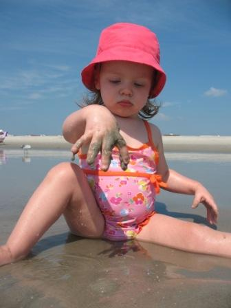 Grace Playing in the Sand