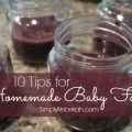 10 Tips for Homemade Baby Food