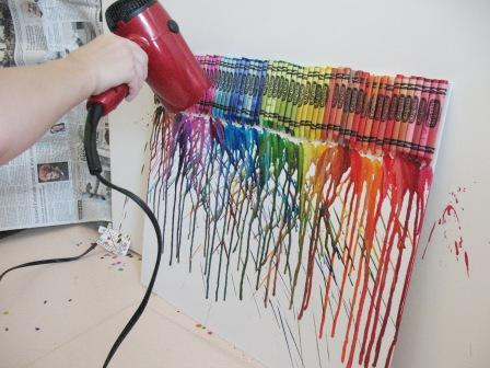 My Nephew's Hair Dryer Melted Crayon Art