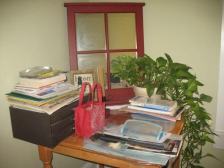 Before Photo of a Clutter Hot Spot