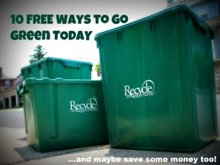 10 Free Ways to Go Green Today