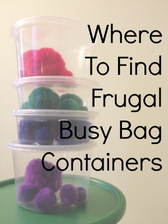 Where to Find Frugal Busy Bag Containers