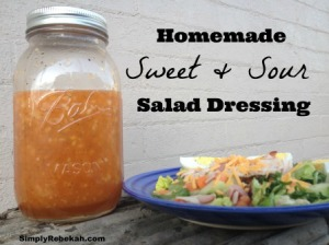 Homemade Sweet & Sour Salad Dressing