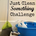 The Just Clean Something Challenge - a free motivational workbook from a woman who hates to clean!