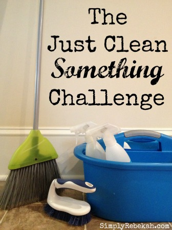 The Just Clean Something Challenge