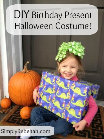 DIY Cheap, Easy, & Adorable  Birthday Present Halloween Costume