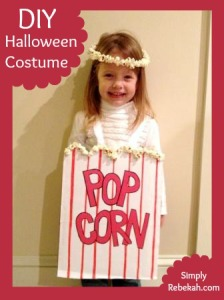 DIY Easy, Cheap, and Adorable Popcorn Halloween Costume
