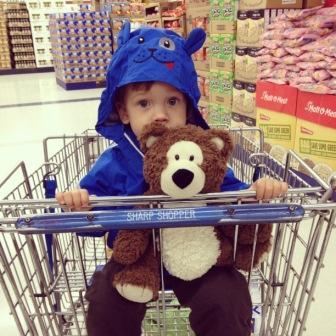 Noah at Grocery Store