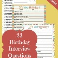 23 Birthday Interview Questions {free printable}