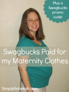 Swagbucks Paid for My Maternity Clothes {plus a sign up bonus code}