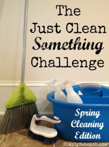 The Just Clean <i> Something</i> Challenge: Spring Cleaning Edition {half way done!}