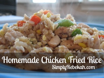 Easy Homemade Chicken Fried Rice - a great way to sneak some veggies into your diet!