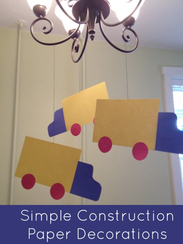 Cheap Easy Construction Paper Birthday Party Decorations Simply