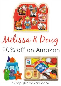 Melissa & Doug Toys for 20% Off