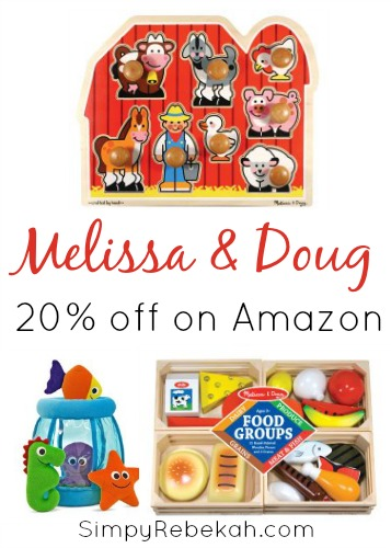 Melissa and Doug Toys for 20% off on Amazon - My kids love these toys!