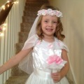 Grace in her Wedding Birthday Dress