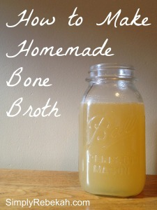 Don't throw away those chicken or turkey bones! Instead you can easily make a healthy bone broth that you can use in a variety of recipes.