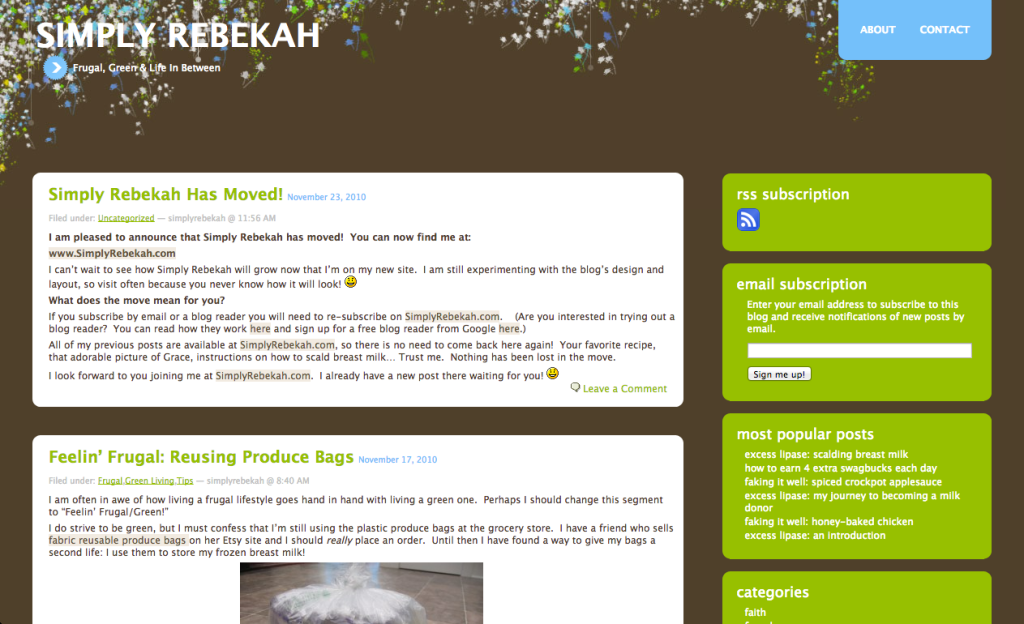 My First Blog Design