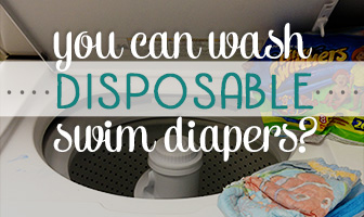 Washing Disposable Swim Diapers