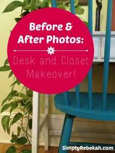 Before & After Photos: Desk and Closet Makeover (with Sauder furniture)