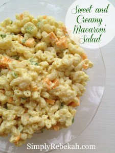 Sweet and Creamy Macaroni Salad