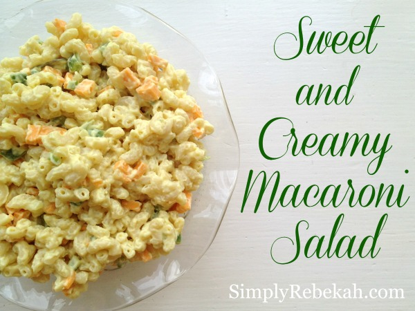 This delicious sweet and creamy macaroni salad recipe is perfect for your next summer picnic.