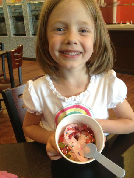 Grace at Yogurt Cafe