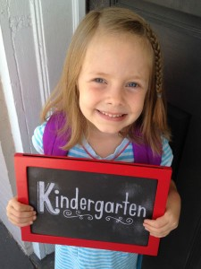 One mom's emotional struggle with her daughter's first day of kindergarten.
