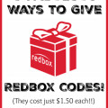 I love these creative ways to give Redbox codes! And they are super affordable since they only cost $1.50 each!