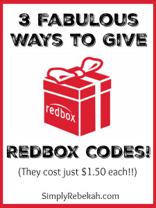 3 Fabulous Ways to Give Redbox Codes
