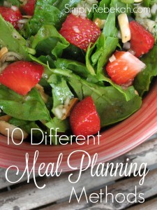 There is a meal planning method to fit everyone's personality style. Which method do you love?