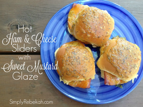 Hot Ham and Cheese Sliders with a Sweet Mustard Glaze - Perfect for parties!