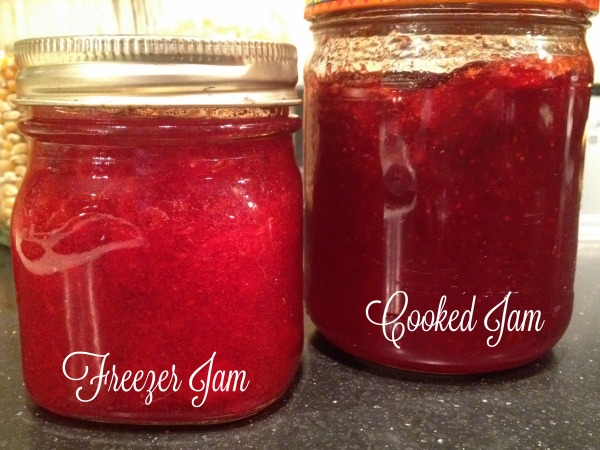 What is the difference between cooked jam and freezer jam?