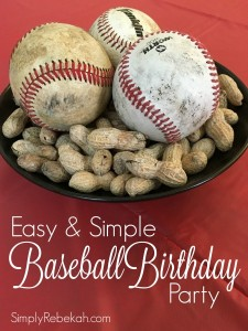 Easy and Simple Baseball Birthday Party