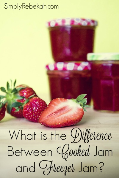 I've always wondered what is the difference between cooked jam and freezer jam recipes. Now I know!