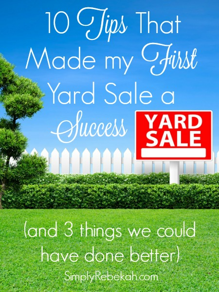 Great yard sale tips from a first timer!