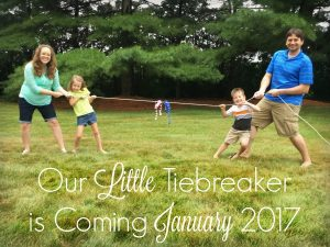 Adorable pregnancy announcement for a family with an even number of boy and girl siblings!