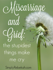 Miscarriage & Grief: the stupidest things make me cry