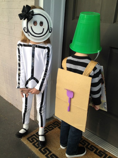stick figure and sandbox halloween costume