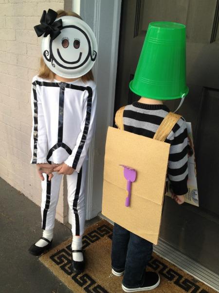 stick figure and sandbox halloween costume