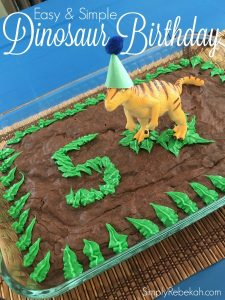 Easy and Simple Dinosaur Birthday Party