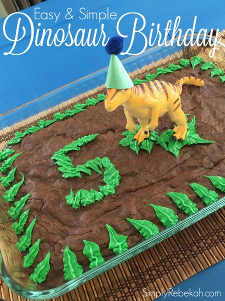Fun Easy And Simple Dinosaur Birthday Party Ideas