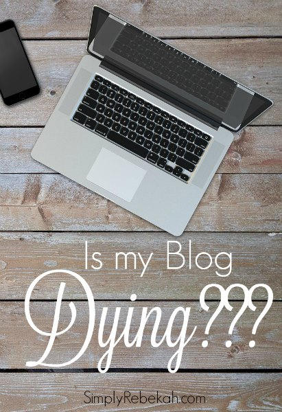 After blogging for over 8 years, is this a sign that my blog is dying along with all the rest?