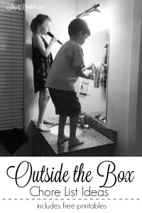 Outside The Box Chore List Ideas {free printable}
