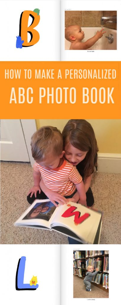 Simple instructions for how to create an adorable personalized ABC photo book for your little one.