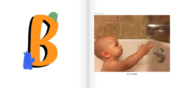 B is for Bath - How to Make a Personalized ABC Photo Book