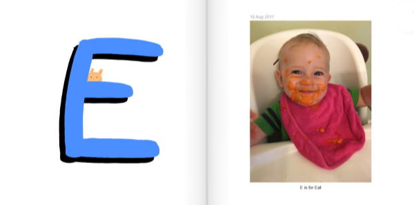 E is for Eat - How to Make a Personalized ABC Photo Book