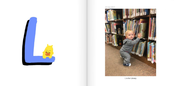 L is for Library - How to Make a Personalized ABC Photo Book